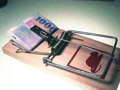 Image of a money mouse trap