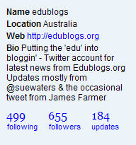 Edublogs profile