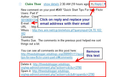 Image of responding by email