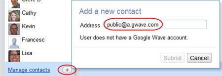 Adding public@a.gwave.com