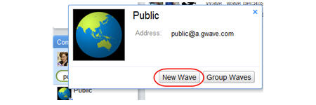 Creating a public wave