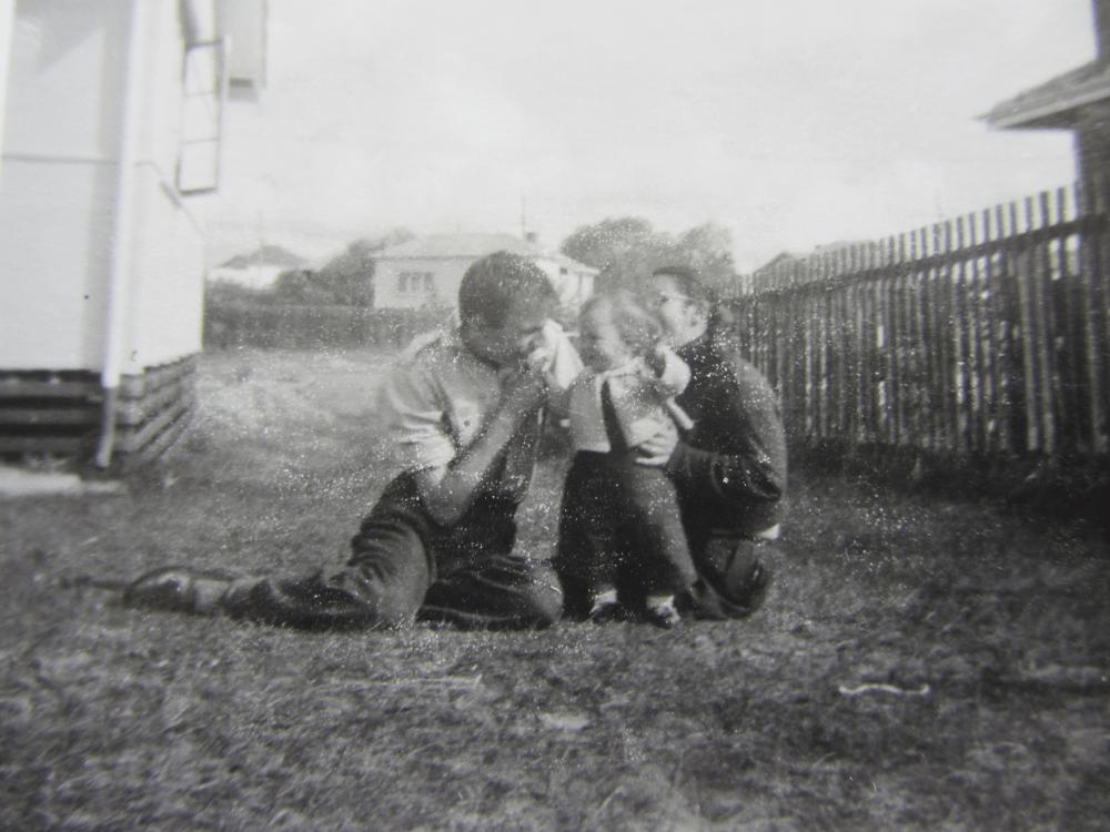 Bill, Helen and Janne 1958
